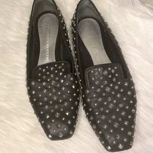 Alexander McQueen Studded Leather Flats Loafers